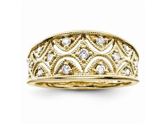 14K Yellow Gold Diamond Fashion Ring (Color H-I, Clarity SI2-I1)