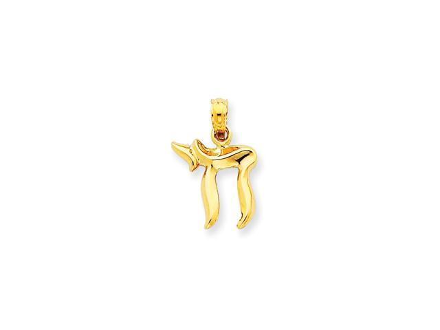 14k Yellow Gold Chai Pendant