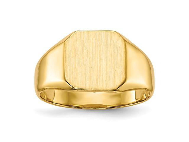 14k Yellow Gold Engravable Signet Ring (9.7mm x 9.5mm face)