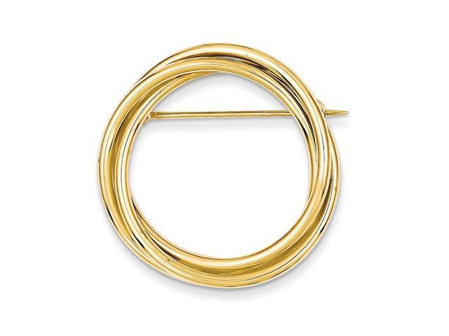 14k Yellow Gold Circle Pin