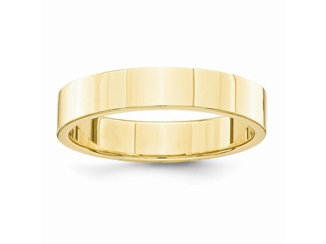 14k Yellow Gold Engravable 4mm Flat Wedding Band