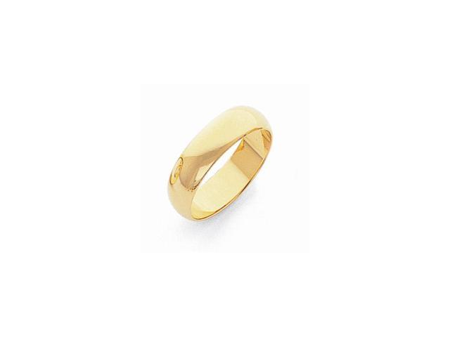 10K Yellow Gold 5mm Engravable Half-Round Band