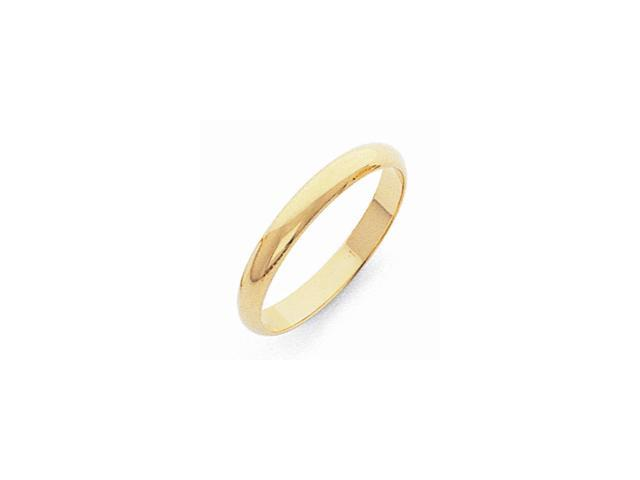 10K Yellow Gold 3mm Half-Round Band