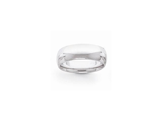 14k White Gold Engravable 7mm Comfort Fit Lightweight Band