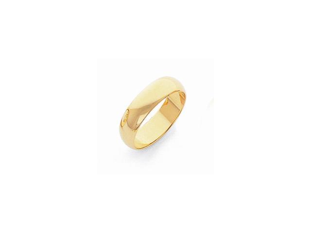 14k Yellow Gold Engravable 5mm Lightweight Half-Round Band
