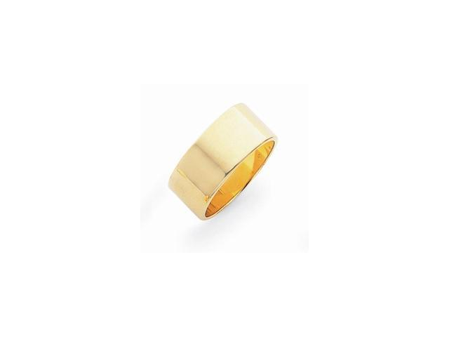 14k Yellow Gold Engravable 0.3IN Flat Wedding Band