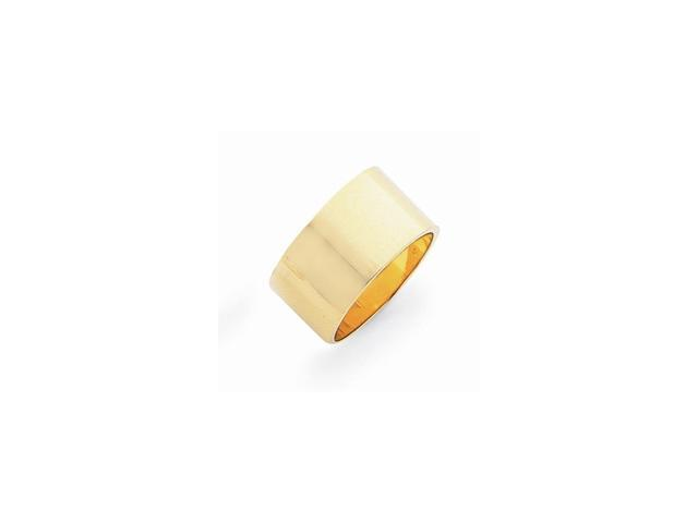 14k Yellow Gold Engravable 0.4IN Flat Wedding Band