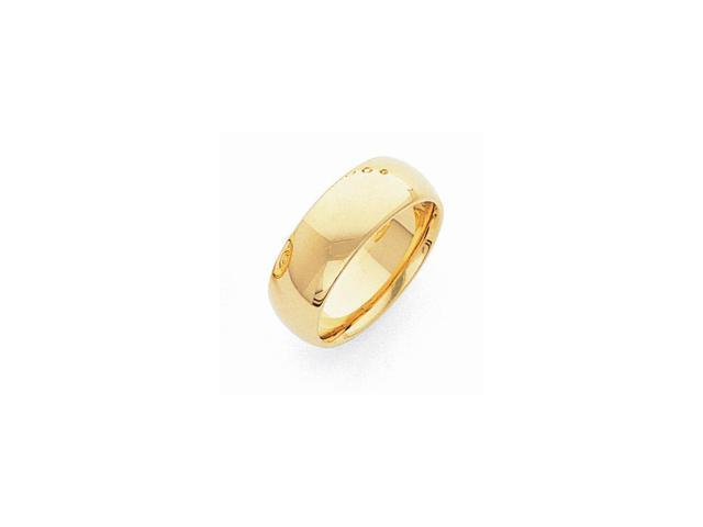 14k Yellow Gold Engravable 8mm Light-Weight Comfort Wedding Band