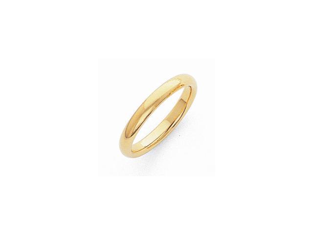 14k Yellow Gold 3mm Light-Weight Comfort-Fit Wedding Band