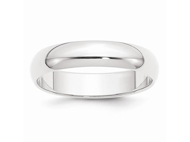 950 Platinum 5mm Half-Round Featherweight Engravable Band