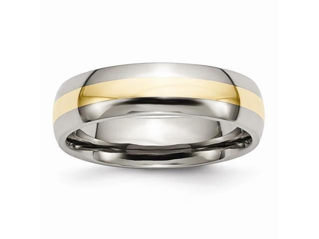 Titanium 6mm Polished Engravable Band