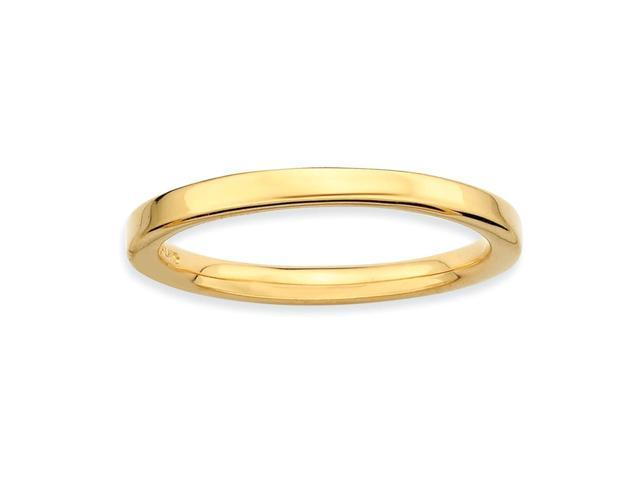 Ever Enchanting Silver Stackable 18k Gold-Plated Ring