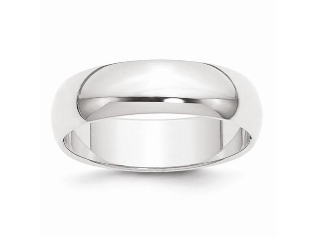 950 Platinum 6mm Half-Round Wedding Engravable Band