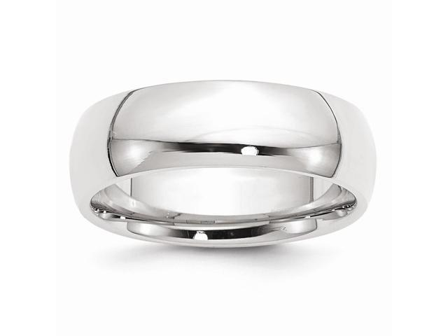 14k White Gold Engravable 7mm Comfort-Fit Band