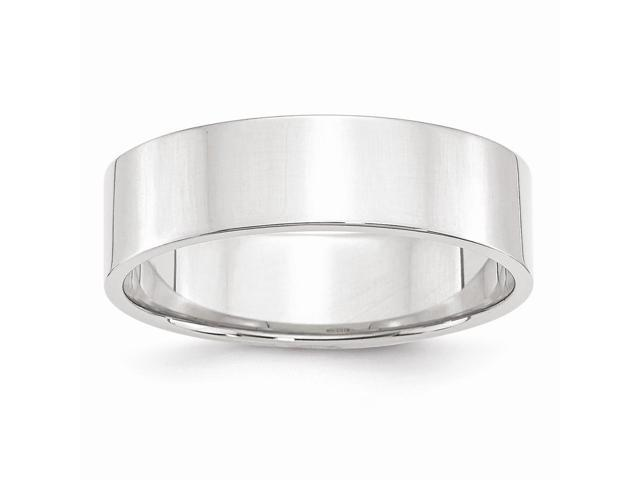 14k White Gold Engravable 6mm Flat Band