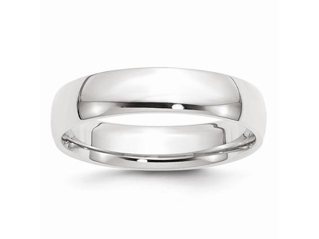 14k White Gold Engravable 5mm Comfort Fit Lightweight Band
