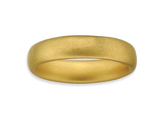 Always Alluring Silver Stackable 18k Gold-Plated Satin Band