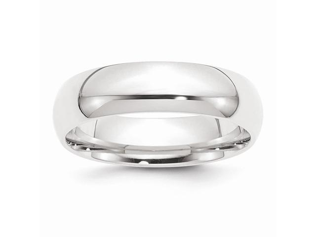 950 Platinum 6mm Comfort-Fit Wedding Engravable Band