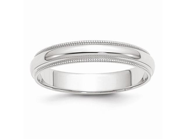 14k White Gold Engravable 4mm Milgrain Band