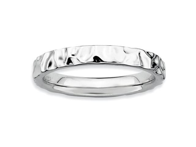 Breathtaking 925 Sterling Silver Stackable Rhodium Plated Ring Band