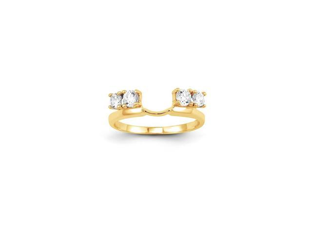 14k Yellow Gold Diamond Wrap Ring (Color H-I, Clarity SI2-I1)