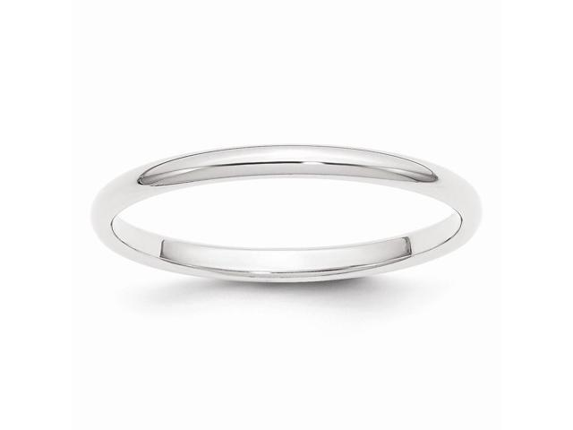 950 Platinum 2mm Half-Round Wedding Band