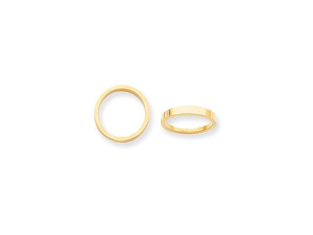 14k Yellow Gold 3mm tapered polished Band