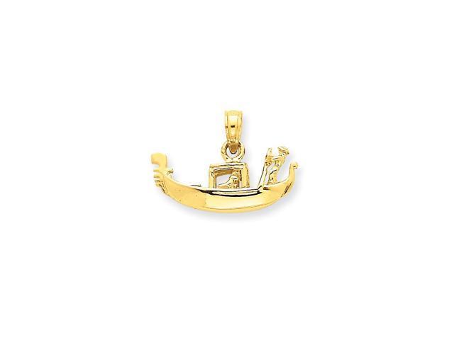 14k Yellow Gold Solid Polished 3-Dimensional Gondola Pendant