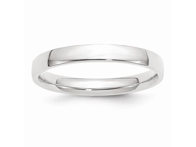 14k White Gold 3mm Comfort Fit Lightweight Band