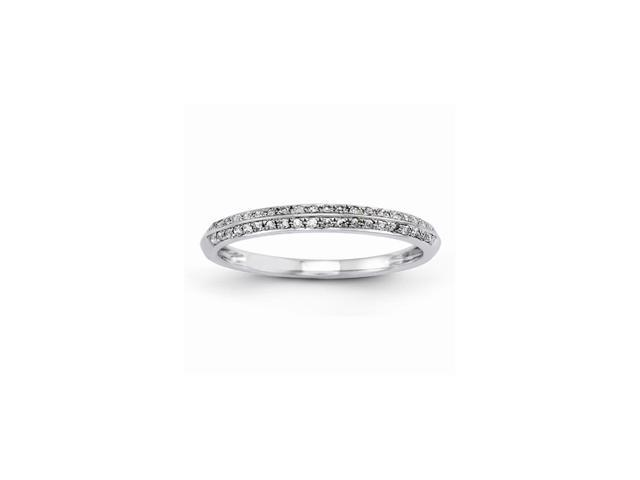 14k White Gold Wedding Band (Color H-I, Clarity SI2-I1)