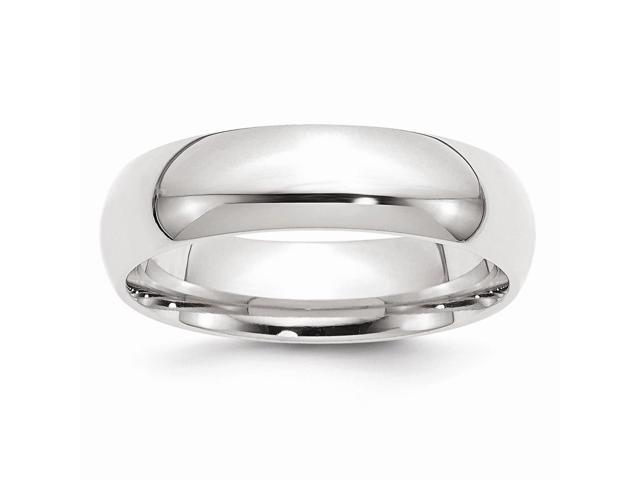 14k White Gold Engravable 6mm Comfort-Fit Band