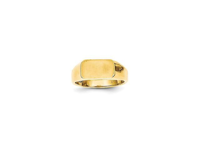 14k Yellow Gold Engravable Child's Signet Ring