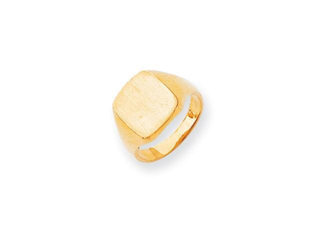 14k Yellow Gold Engravable Signet Ring (10.8mm x 10.3mm face)