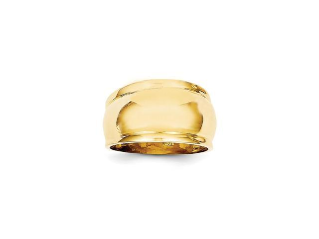 14k Yellow Gold Polished Dome Ring