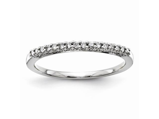 14K White Gold Diamond Bridal Band Ring (Color H-I, Clarity SI2-I1)