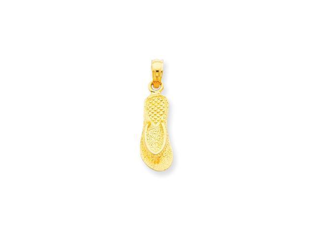 14k Yellow Gold Single Flip-Flop Pendant