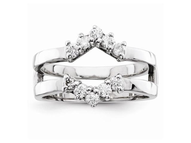 14k White Gold Fine Diamond guard (Color H-I, Clarity SI2-I1)