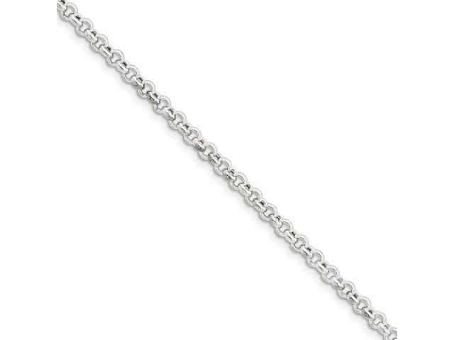 Sterling Silver 24in 4.25mm Rolo Necklace Chain