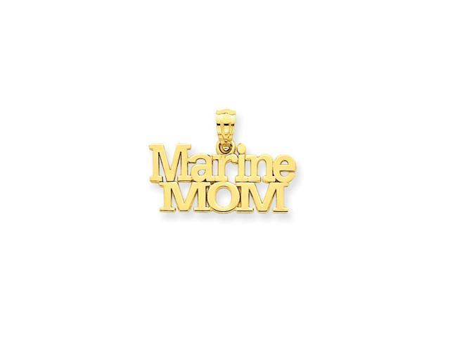14k Yellow Gold Marine Mom Pendant
