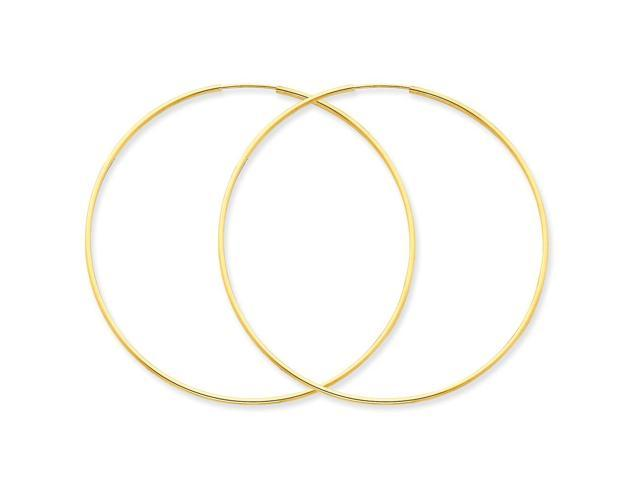 14k Yellow Gold 1.25mm Endless Hoop Earring (58mm Diameter)