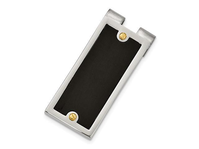 Stainless Steel IPG 24k Plating & IP Black Plated Money Clip