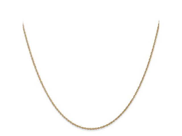 14k Yellow Gold 30in .8mm Lite-Baby Rope Necklace Chain
