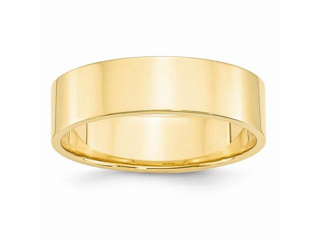 14k Yellow Gold Engravable 6mm Flat Wedding Band