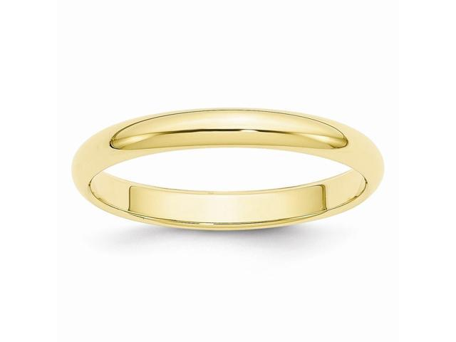 10K Yellow Gold 3mm Half-Round Band
