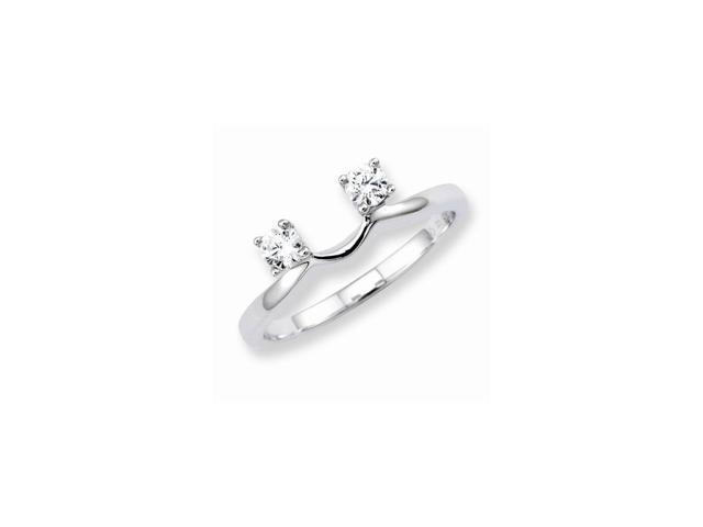 14K White Gold Diamond Wrap Ring (Color H-I, Clarity SI2-I1)