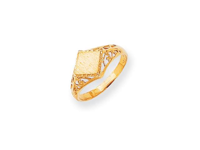 14k Yellow Gold Engravable Signet Ring (6.2mm x 6.2mm face)