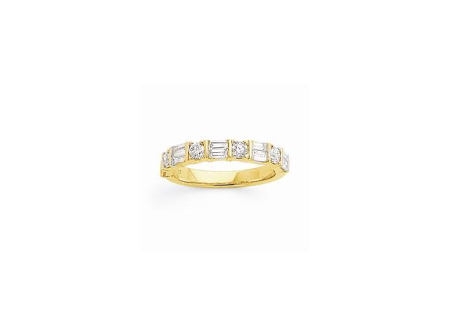 14k Yellow Gold Diamond Band (Color I-J, Clarity I1-I2)