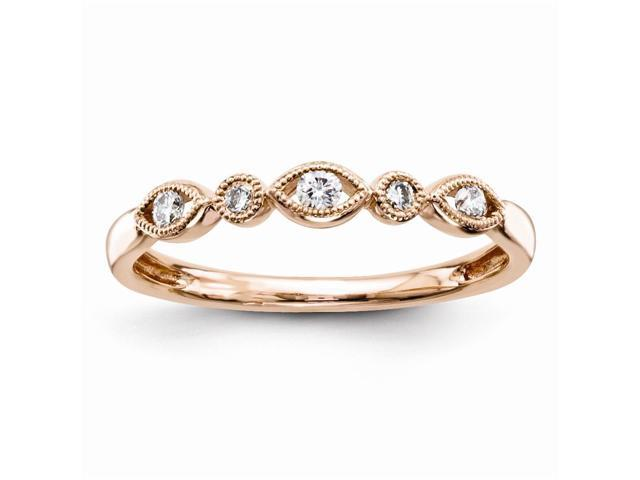 14K Rose Gold Diamond Fashion Ring (Color H-I, Clarity SI2-I1)