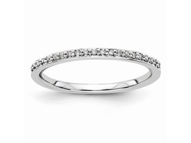 14k White Gold Diamond Wedding Band (Color H-I, Clarity SI2-I1)