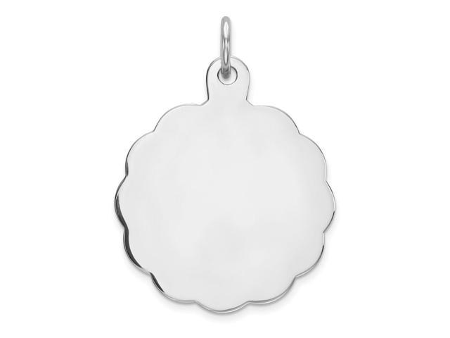 Sterling Silver Engraveable Disc Charm (0.9in)